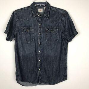 Levi's | Denim Shirt Western Style Dark Wash